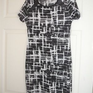 Dress black and white size M